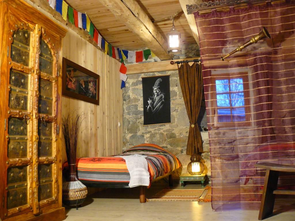 La chambre himalaya avec le lits simples en formule prestige