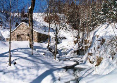 Le Moulin de Drils sous la neige