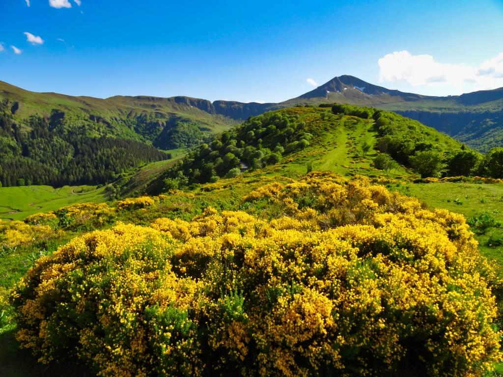 Le puy-Mary vu depuis le Col de Serre au printemps