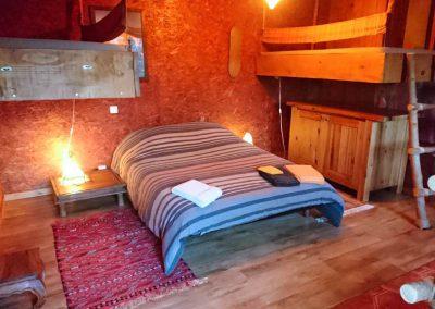 La chambre Sahara en formule prestige avec un lit double