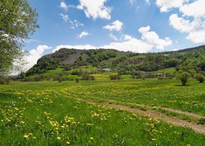 La vallée de la Santoire au printemps